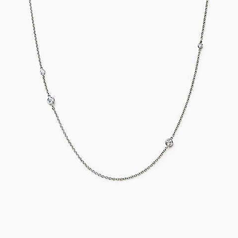Эльза Перетти ® Алмазы со стороны посыпать ожерелье из платины Двор ®.