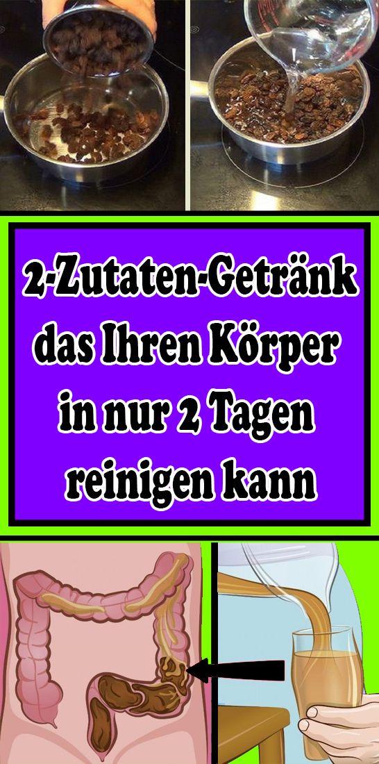 2-Zutaten-Getränk, das Ihren Körper in nur 2 Tagen reinigen kann