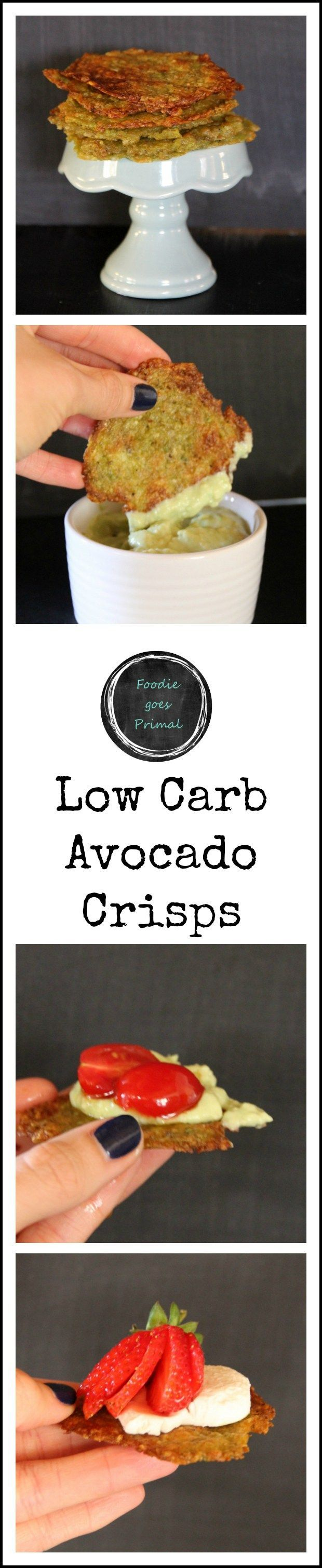 Low Carb Avocado Crisps - Ingr Challenge Pinterest
