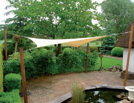 Shade sail koi ponds pinterest sun decks and anchors for Pond shade ideas