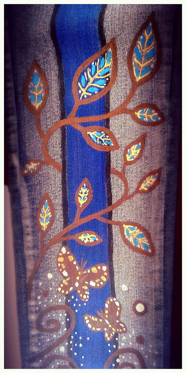 Pantalones pintados a mano.  Todas las tallas y colores.  Diferentes estilos y variedad de diseños.