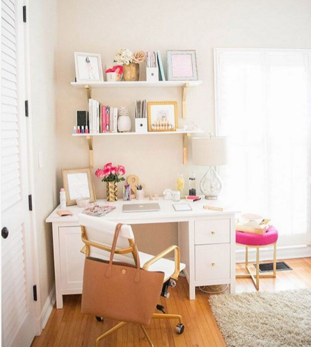 Home Office Design-Ideen für kleine Räume Cute H…