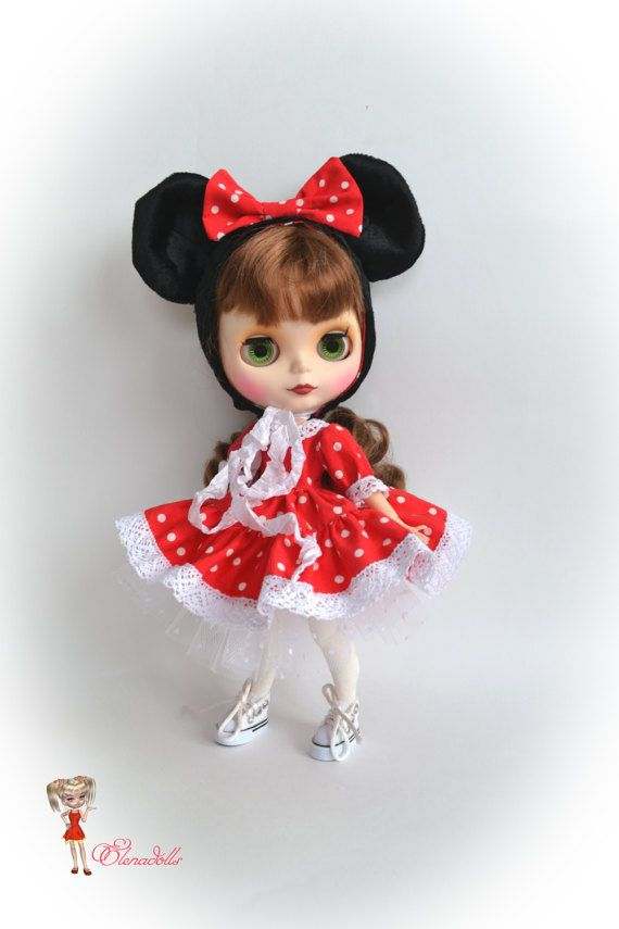 set for Blythe I am Minnie Mouse. for