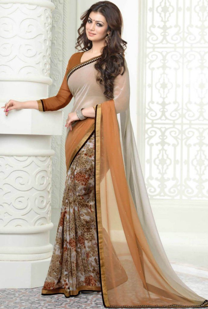 Ayesha Chocolate color saree- Indiana Lifestyle Online Shopping