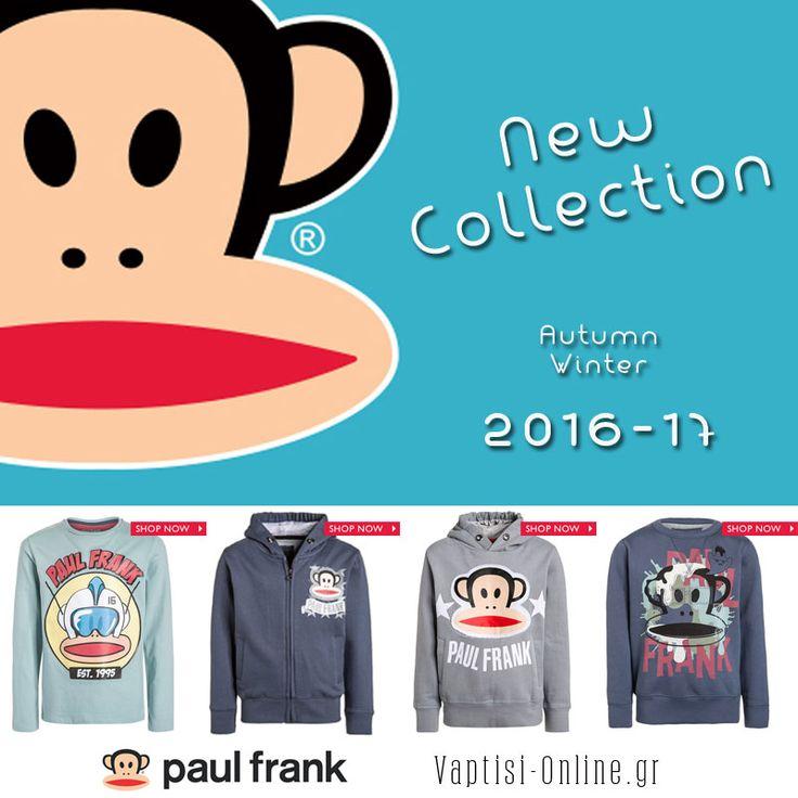 ➡PAUL FRANK ➡NEW COLLECTION !!! Δείτε πρώτοι την νέα συλλογή A/W 2016-17 μόνο εδώ :http://www.vaptisi-online.gr/paul-frank.html