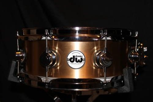 MINT 2011! DW Collector's 5x13 Polished Bronze Snare Drum w/ Case!