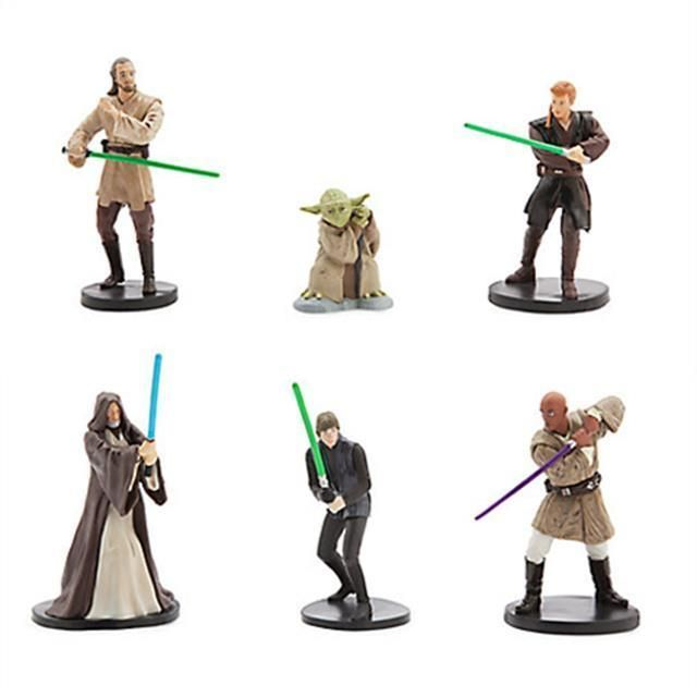 Star Wars Collection of Jedi figurines from the Star Wars gala Set of 6 Jedi #Disney