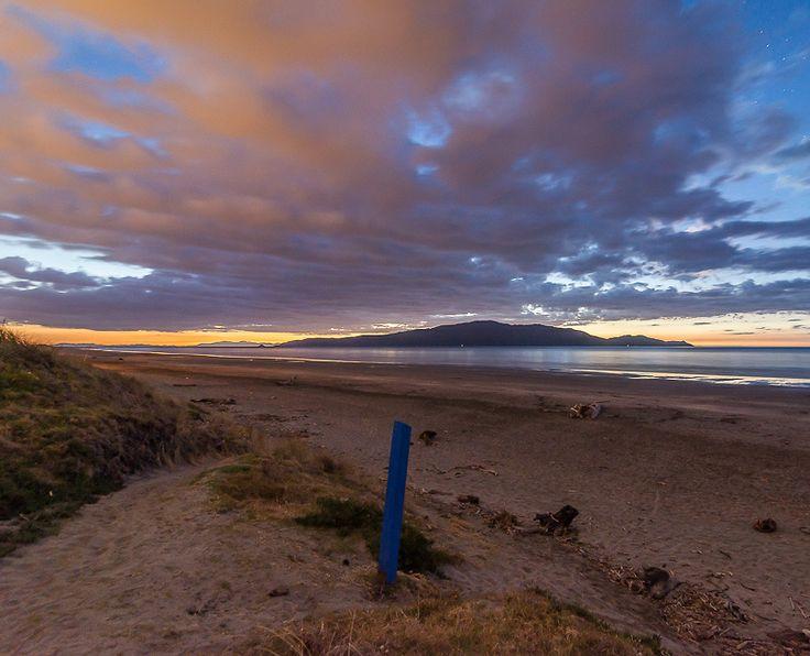 Long after the sun went down on Waikanae Beach