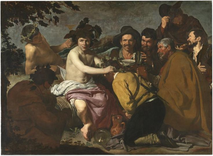 The Feast of Bacchus (The Drunkards) / Los borrachos (El triunfo de Baco) // 1628 - 1629 // Diego Velázquez // #alcohol