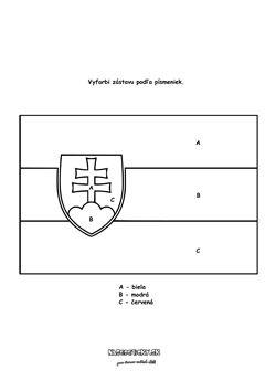 Slovenská vlajka omaľovánka