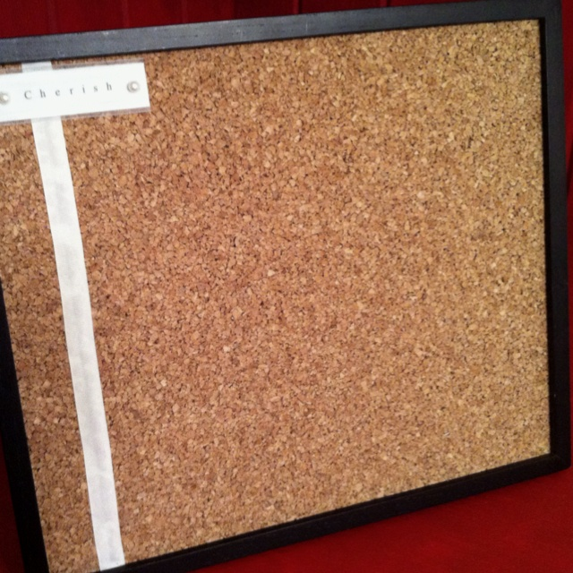 Make A Cork Board Out Of An Old Frame Cork Tiles From