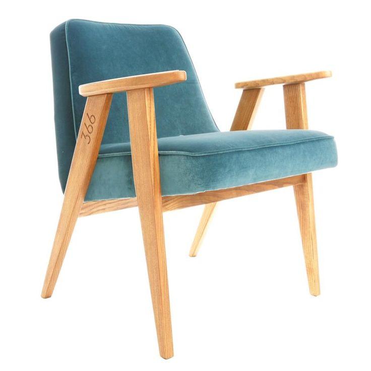 fauteuil 366 Jozef Chierowski 366 Concept slavia vintage