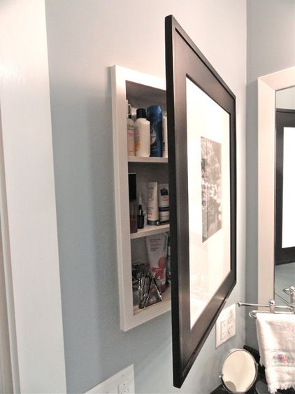 17 best ideas about medicine cabinets on pinterest - Bathroom mirror with hidden storage ...