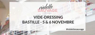 Vide-dressing géant Violette Sauvage à la Bastille