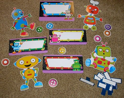 Teacher Resource Robot Bulletin Board Set 27 Pieces | eBay