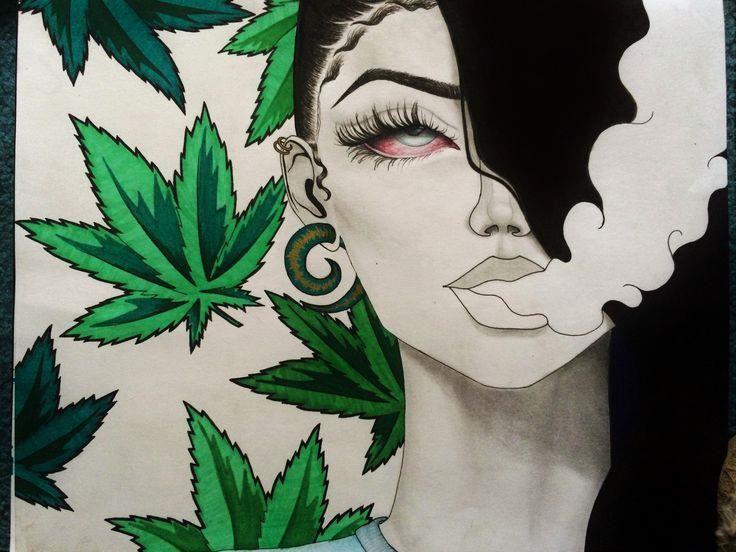 25+ bästa Weed art idéerna på Pinterest | Marijuanakonst ...