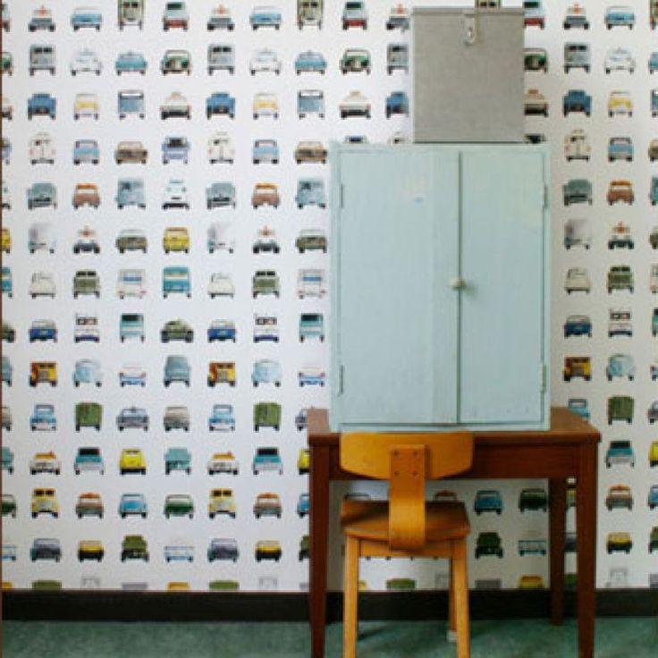 Een echte autokamer kan natuurlijk niet zonder autobehang. Dit is een hele fraaie!
