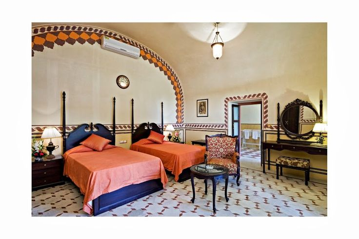 These spacious rooms at #CastleKanota are a mix of the ancient #traditional architecture and modern amenities! Nr. #Jaipur #Rajasthan! A perfect #RareIndia #DelhiGetaway!   #Explore More: http://bit.ly/1mFO4BT