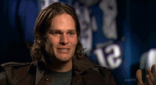 I have a love/hate relationship with Brady. I hate him, yet I love it when he cries! 33 Times Tom Brady's Hair Looked Really Effing Stupid.