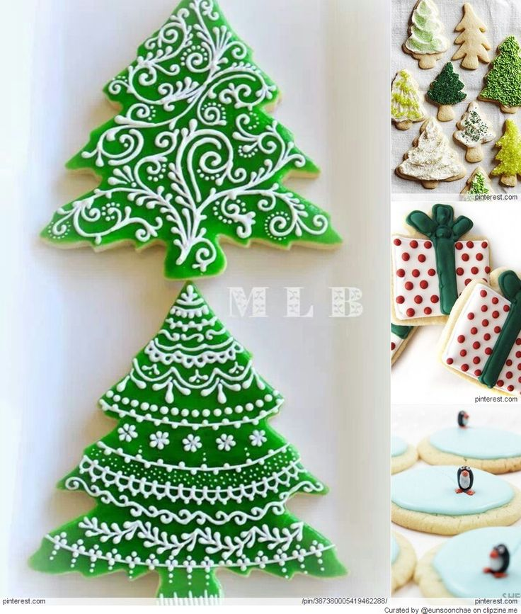 will definitely try icing my cookies like this next year!! Christmas Cookies