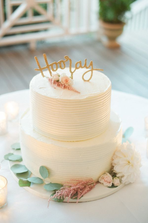 Two tier wedding cake: http://www.stylemepretty.com/2017/02/14/intimate-fall-wedding-in-a-gorgeous-garden-setting/ Photography: Ashley Cox - http://ashleypcox.com/