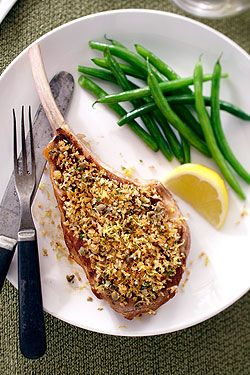 Lemon Caper Veal Chops- Lemon scented Ontario veal chops are served up ...