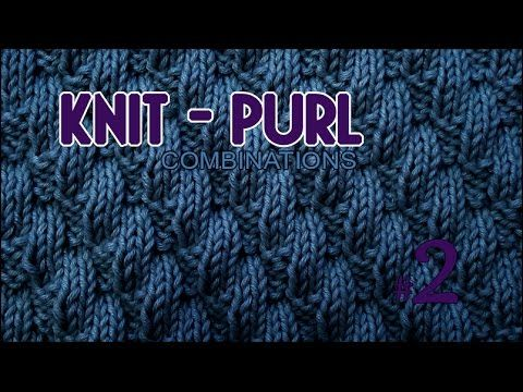 Left Diagonal Knit & Purl Stitch Combinations #2 knitting tutorials ...