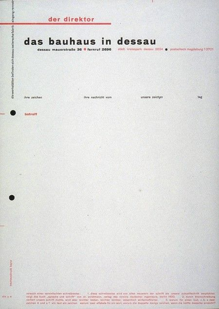 Herbert Bayer - Letterhead Design