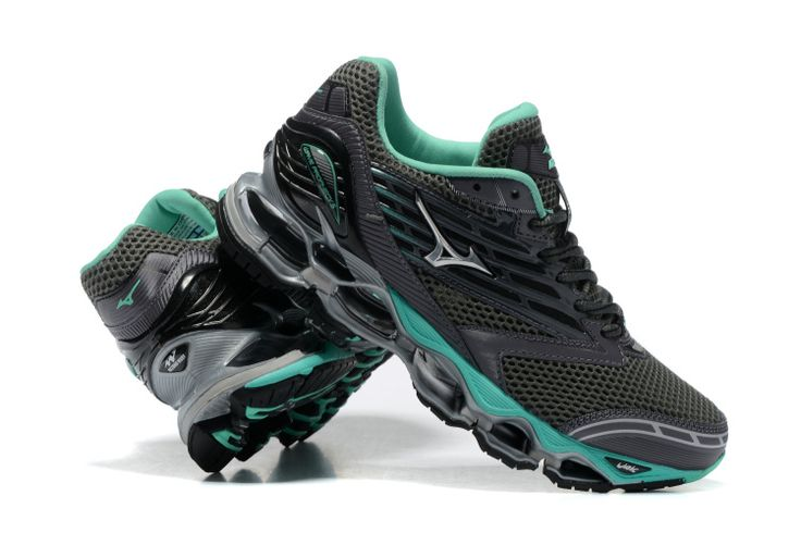 Mizuno Wave Prophecy 5 Grey Green Womens Shoes