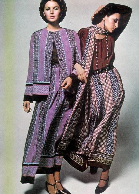 Yves Saint Laurent Harper's Bazaar magazine, Apr 1970