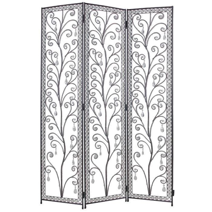 172cm x 120cm venezia decorative 3 panel room divider - Home Decor Screens