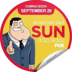 (New) American Dad Season 9 Coming Soon Sticker | tvtag