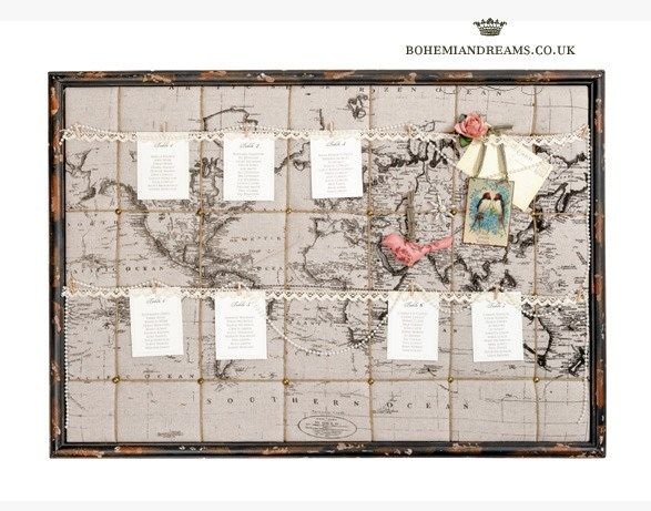 travel map table plan www.bohemiandreams.co.uk