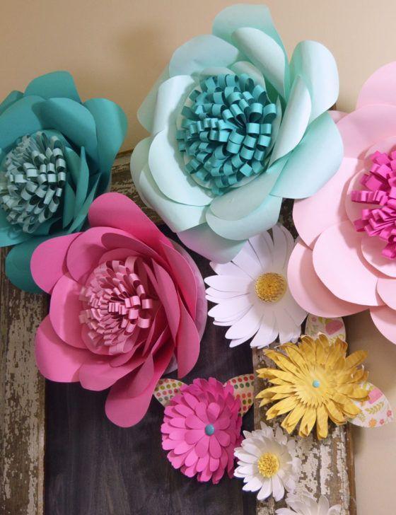 13 Pinterest flores de papel