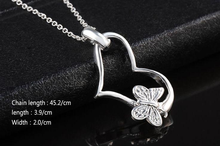 Серебряный Рождественский подарок! кулон ожерелье, высокое качество серебряный Сердце ожерелье, ювелирные neckalce Серебряные украшения Для Свадьбы