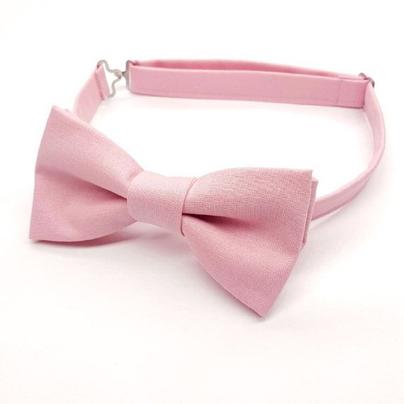 Pink Bow tie for Men, Dusty Pink Bow tie, Pink Wedding by FlyTiesforFlyGuys