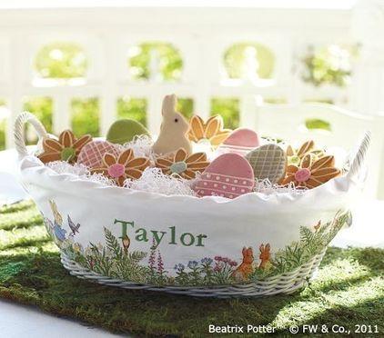 Peter Rabbit Easter Basket with liner