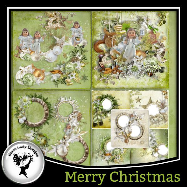 Merry Christmas Full pack by Black Lady Designs