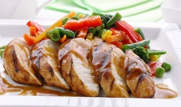 The recipe chicken breast baked with mustard sauce
