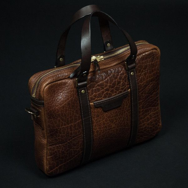 CORONADO BISON <b>LEATHER BRIEFCASE</b> SADDLE - THE ...