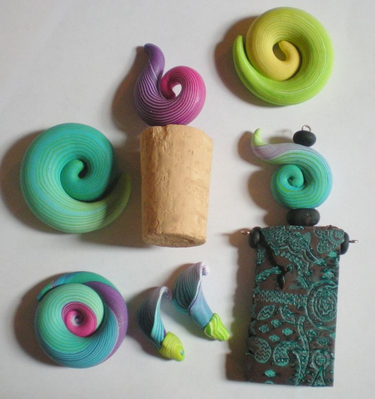 Donna Kato squiggles applied....#Polymer #Clay #Tutorials