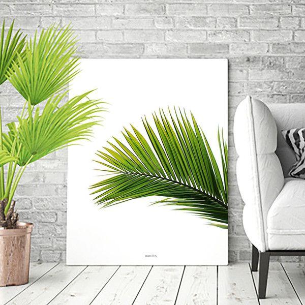 PLAKAT z grafiką: Liść palmy - 40x50 cm - colormint - Wydruki cyfrowe