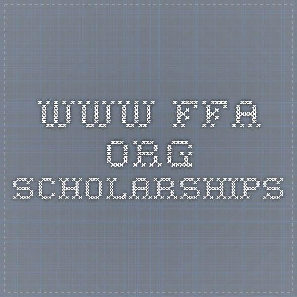FFA Scholarships