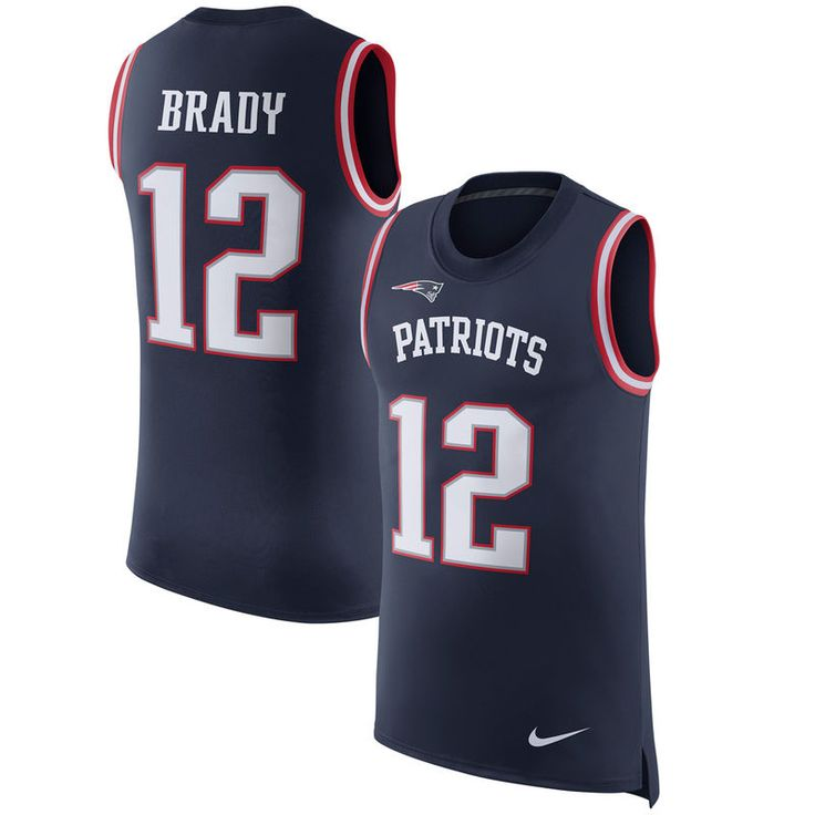 Tom Brady New England Patriots Nike Color Rush Player Name & Number Tank Top - Navy