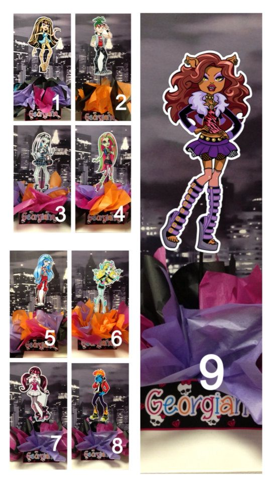 Diy quot small monster high birthday party centerpiece with