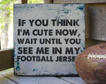 Popular items for football sign on Etsy