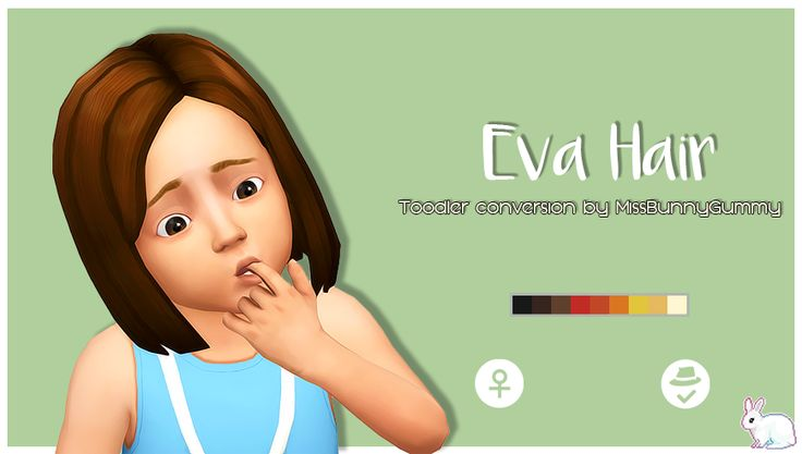 Eva Hair & Hoodie Long Bunny - Child to Toddler conversions! ~ MissBunnyGummy