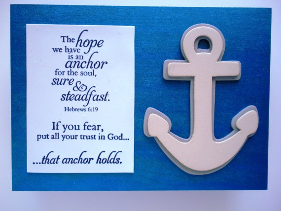 Christian Verse Art The Hope We Have Is An Anchor By WordofGod On Etsy.