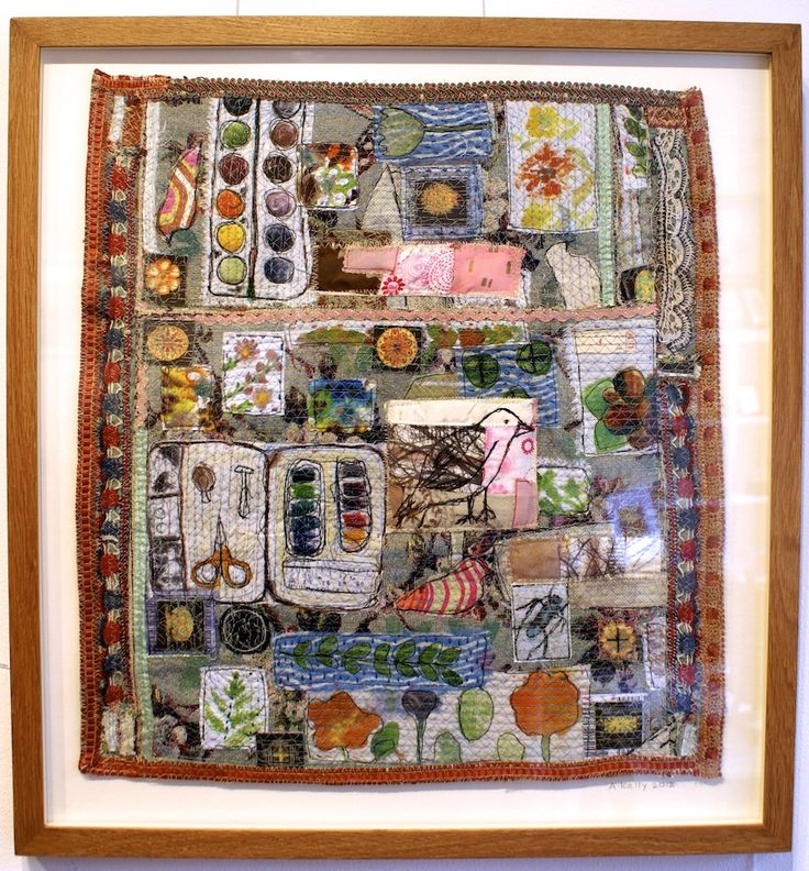 Hanging textile art is an art in itself