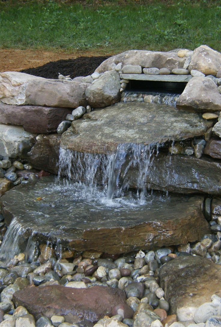 17 best images about landscaping ideas on pinterest for Waterfall features for ponds